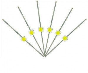 LED-SWM Mini Butterfly Type  6x 1.6mm (w/resistors)  Daylight White