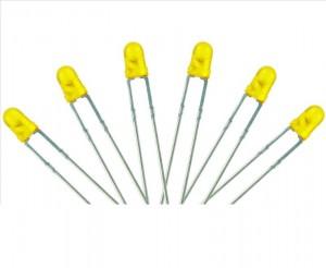 LED-YL3 T1 Type  6x 3mm (w/Resistors)  Yellow