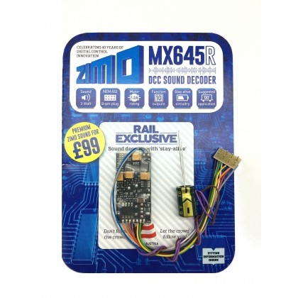 MX645R 1.2A 10 function standard sound decoder 8 pin